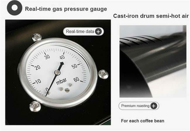 gas commercial coffee roaster 2kg