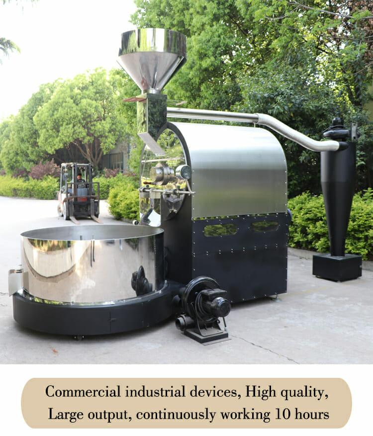ZD 60kg industrial roaster details 03
