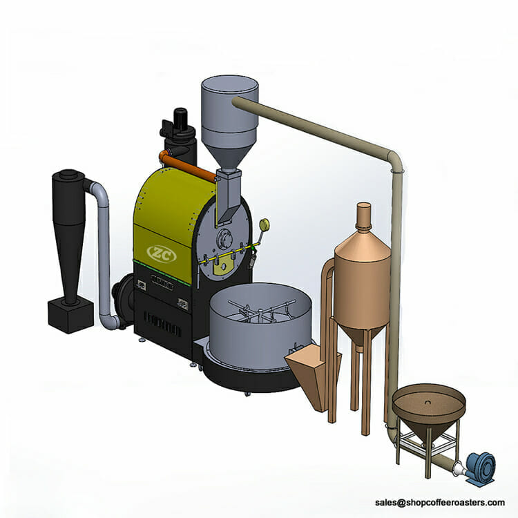 60kg commercial coffee roaster