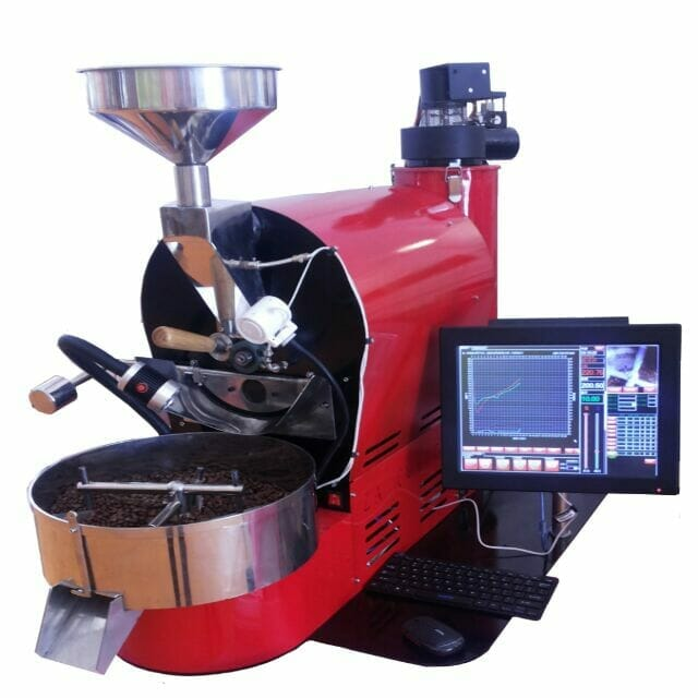 red coffee roaster