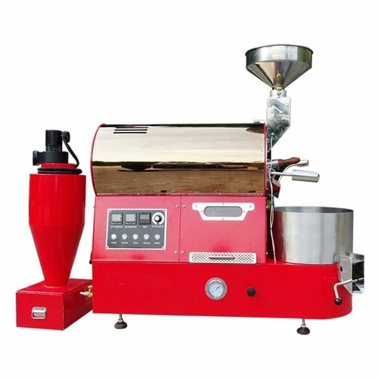 red rose gold CY 2kg coffee roaster machine 01